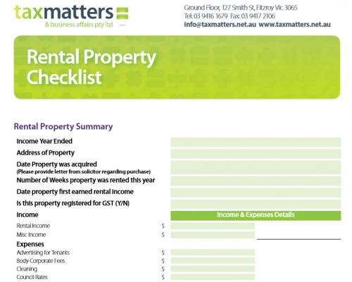 Rental Property Checklist
